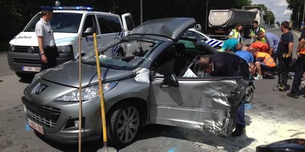 Un motard et une automobiliste sérieusement blessés après une collision à Gerpinnes - La DH