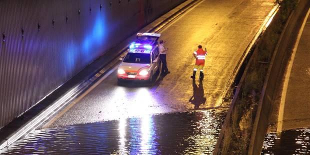 Des tunnels bruxellois ferm�s � cause de la pluie