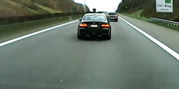 Le pirate de la route en BMW à nouveau filmé - La DH