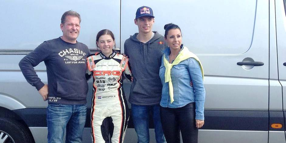 Family photo of the driver, dating Seychelle de Vries, famous for Toro Rosso & F1 2015.
