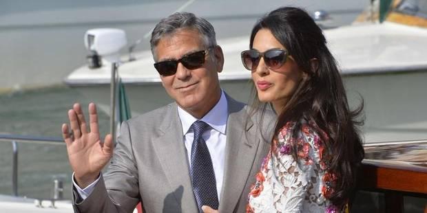 George et Amal Clooney en gondole à Venise - La DH