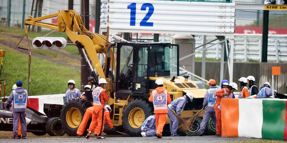 """Crash de Bianchi: Pas de """"safety car"""" ni de drapeaux jaunes!"""