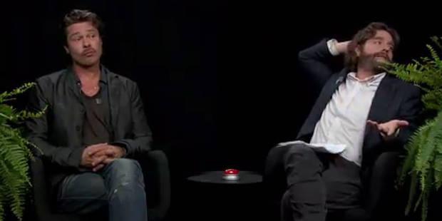 Brad Pitt crache son chewing-gum au visage de Zach Galifianakis - La DH