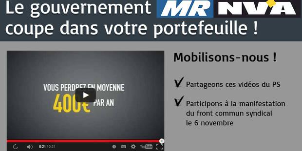 Les vidéos du PS contre le gouvernement Michel cartonnent - La DH