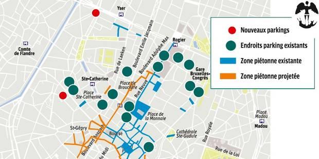 La carte des futurs parkings bruxellois - La DH