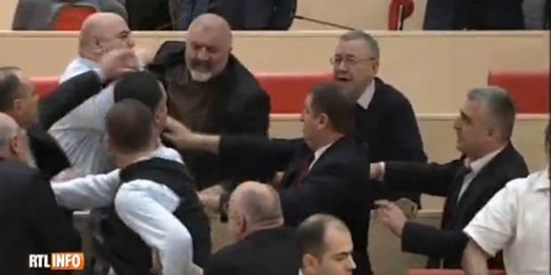 Bagarre générale au parlement géorgien - La DH