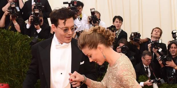 Johnny Depp a passé la bague au doigt d' Amber Heard