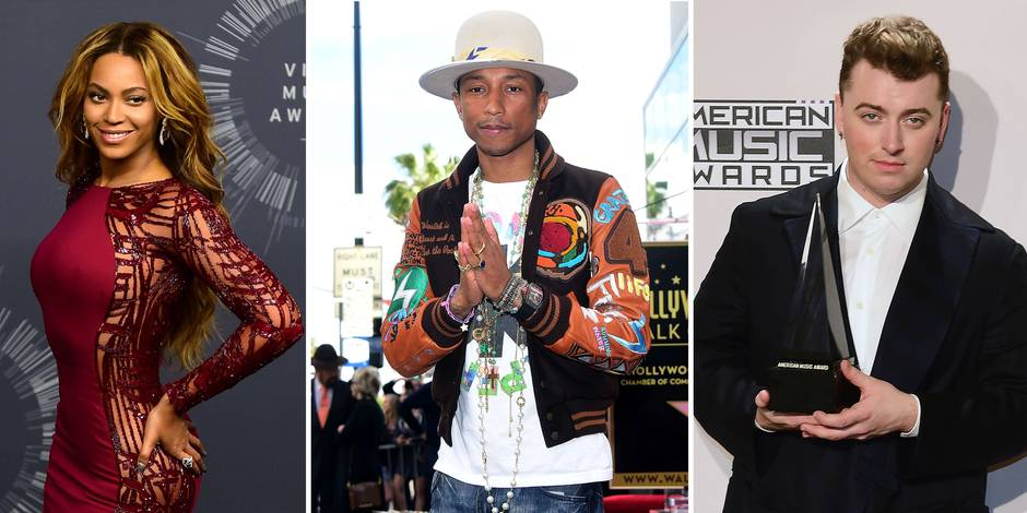 Grammys: consécration pour Sam Smith ou nouveau triomphe pour Beyoncé et Pharrell ?