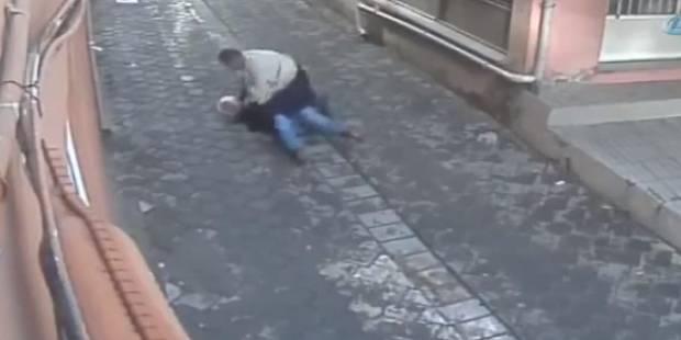 Un homme sauve la vie d'une femme agressée par son mari en pleine rue - La DH