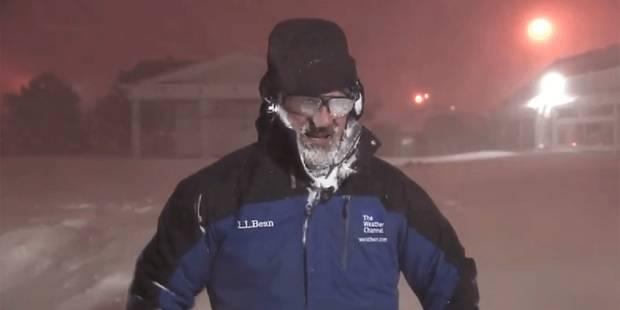 Pourquoi ce météorologue explose-t-il de joie en pleine tempête de neige? - La DH