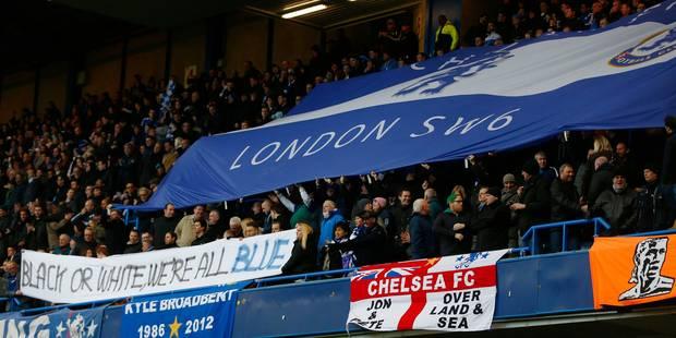 Incident raciste: banderole et maillots contre la discrimination à Chelsea - La DH