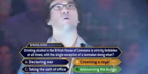 """Témoignage: Ça fait quoi de perdre 225.000 dollars à """"Qui veut gagner des millions"""" ? - La DH"""