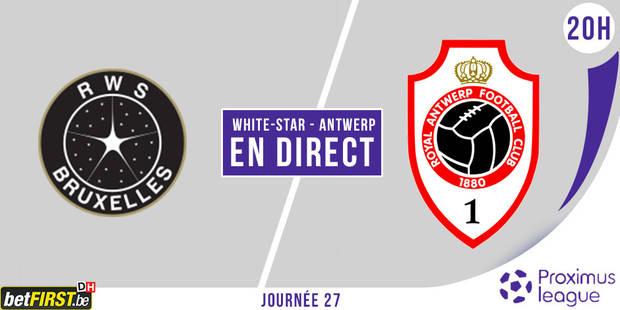 Le White Star m�ne puis perd contre l'Antwerp (2-4)