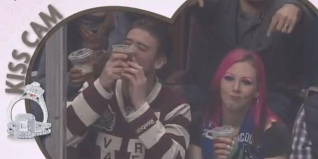 Kiss Cam: il préfère sa bière à sa copine - La DH