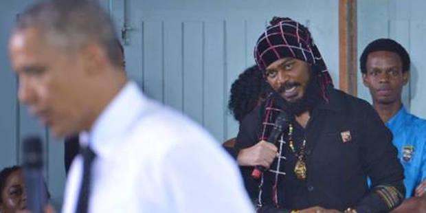 """Ya, Man!"": Quand un rasta interpelle Obama sur le cannabis (Vidéo) - La DH"