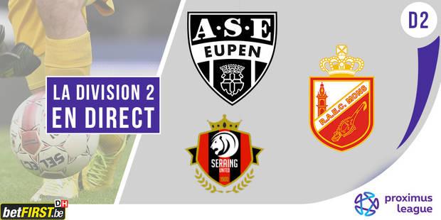 D2: Seraing �crase Malines, belle victoire pour Eupen, nul vierge pour Mons