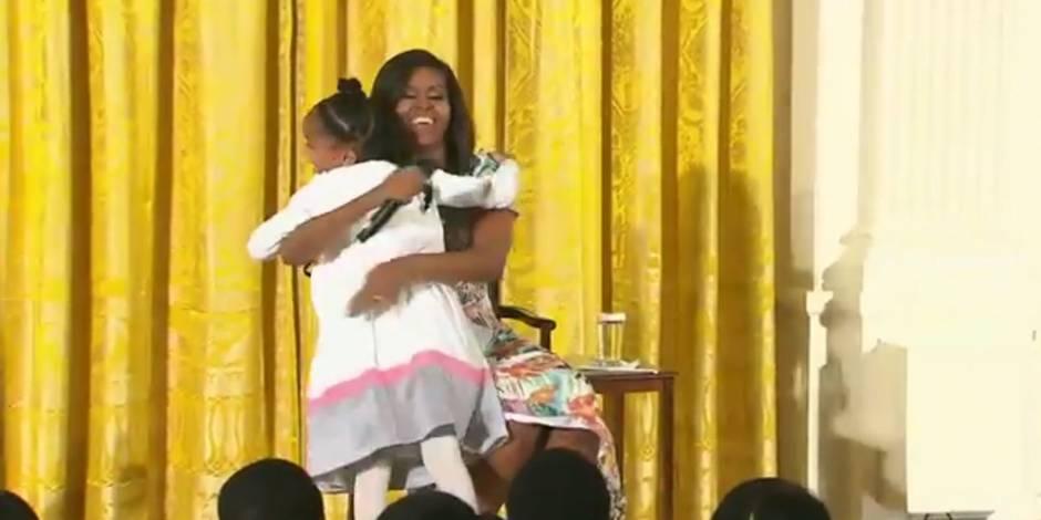 Le compliment touchant d'une petite fille à Michelle Obama