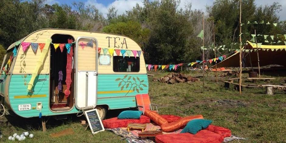 "Camping ""baba cool"" en caravanes vintage"