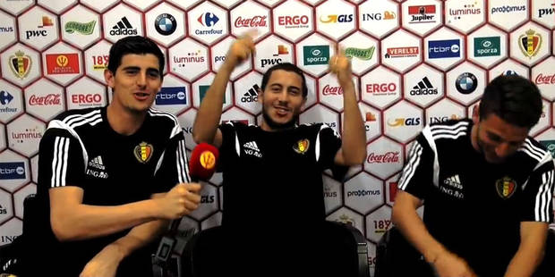 """Courtois, Hazard et Mertens souhaitent """"bonne chance"""" aux étudiants pour leurs examens - La DH"""