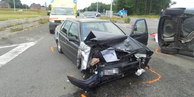 Trois bless�s lors d'une collision � Forchies-La-Marche (PHOTOS)