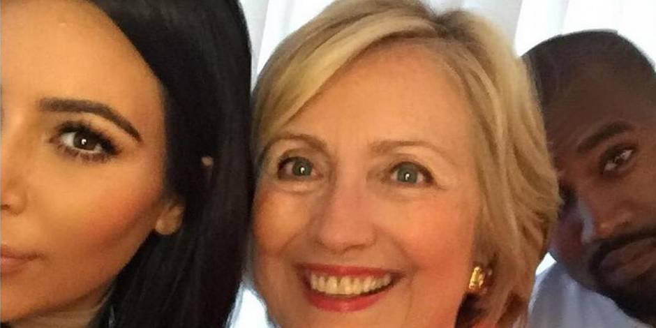"""""""Hillary présidente!"""", lance Kim Kardashian à ses millions de fans en ligne"""