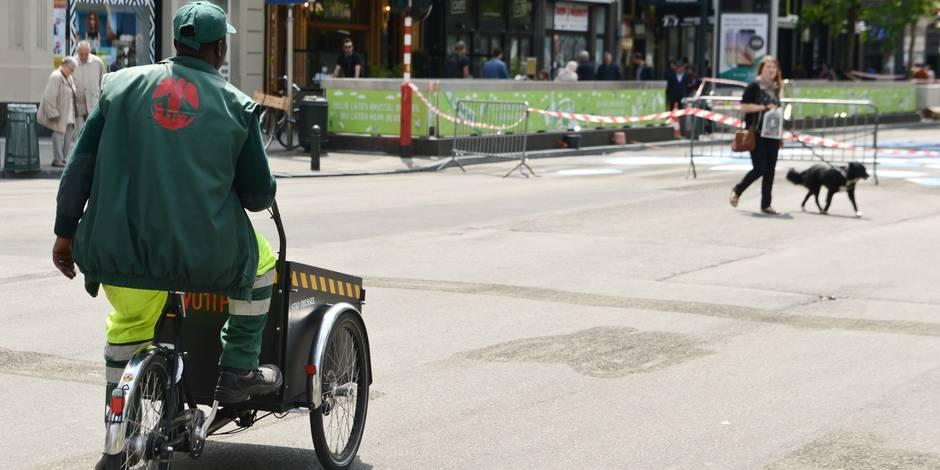 Le piétonnier de Bruxelles teste les cyclo-taxis