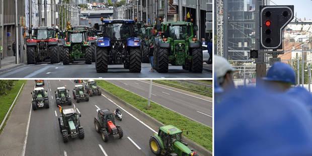 Manif des agriculteurs: peu d'embarras sur les routes, la gare Schuman fermée jusqu'à 21h00 - La DH