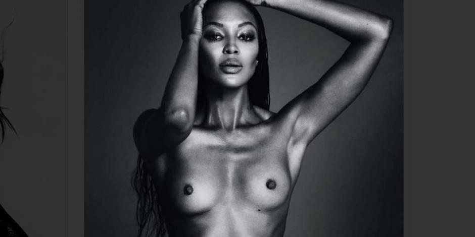 Naomi Campbell seins nus fait de la résistance