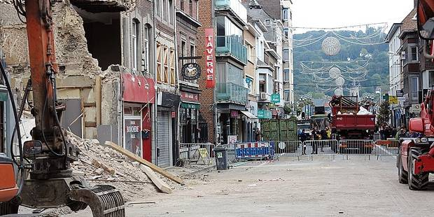 Démolition et consolidation en cours à Huy - La DH