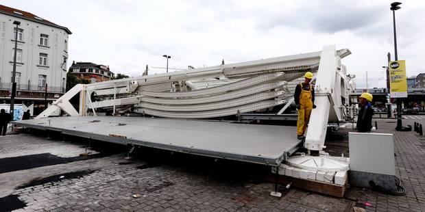 Bruxelles: la grande roue de Paris en cours de montage - La DH
