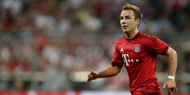 Le Bayern Munich sans Götze 10 à 12 semaines - La DH