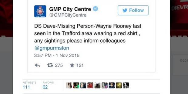 Alerte enlèvement: Quand la police de Manchester chambre Wayne Rooney - La DH