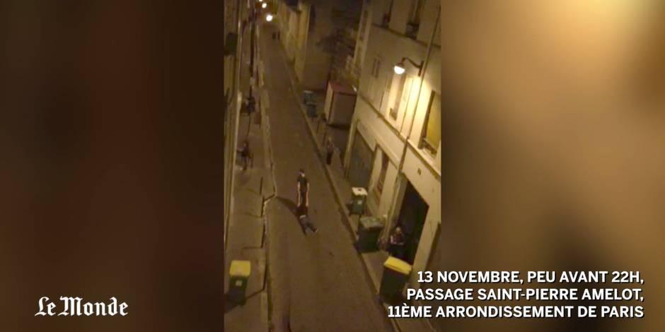 La fuite des victimes du Bataclan filmée: la terrible vidéo