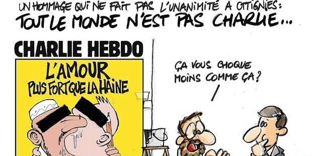 Ottignies-LLN: la fresque Charlie fait débat - La DH