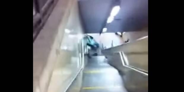 Vandalisme à Clémenceau: une interpellation après la destruction de la voiture dans le métro (VIDEO)