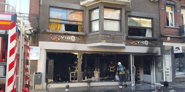 Important incendie dans le centre de Namur