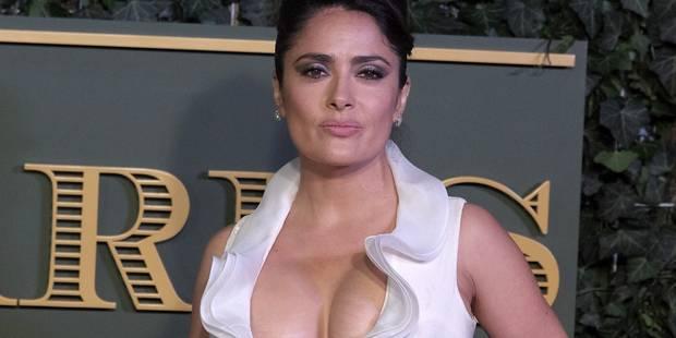 Salma Hayek se retrouve nue (ou presque) à l'hôpital et elle en rit encore - La DH