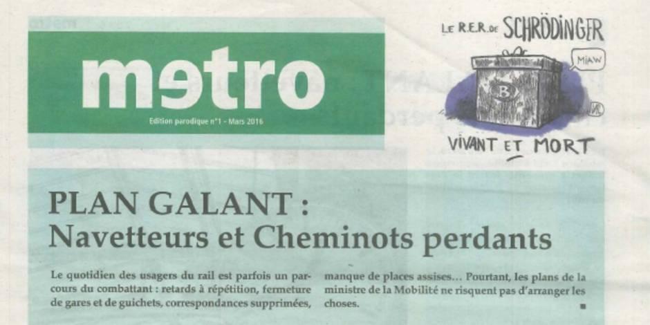Un faux journal Metro égratigne le plan Galant