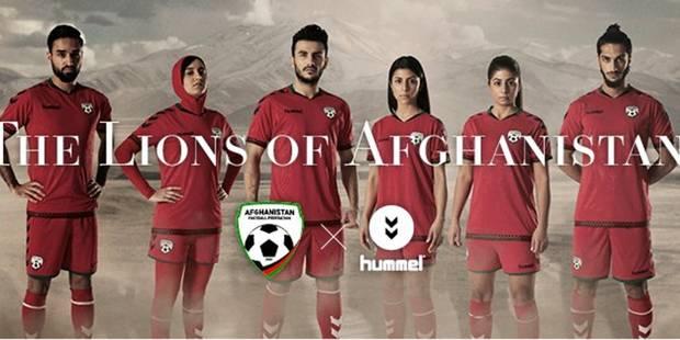 Le nouveau maillot de l'équipe de foot féminin d'Afghanistan fait débat - La DH