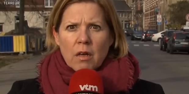 Forest: La stupeur d'une journaliste de VTM lorsqu'elle entend les tirs en direct (VIDEO) - La DH