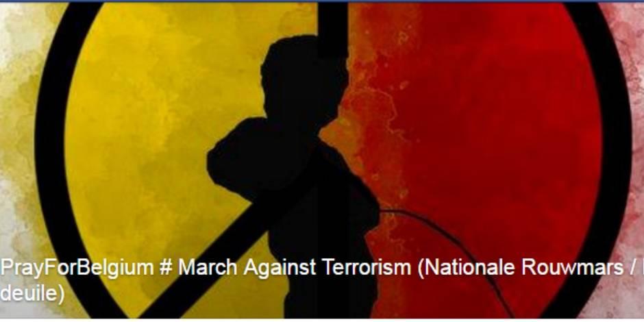 Une marche contre le terrorisme à Bruxelles