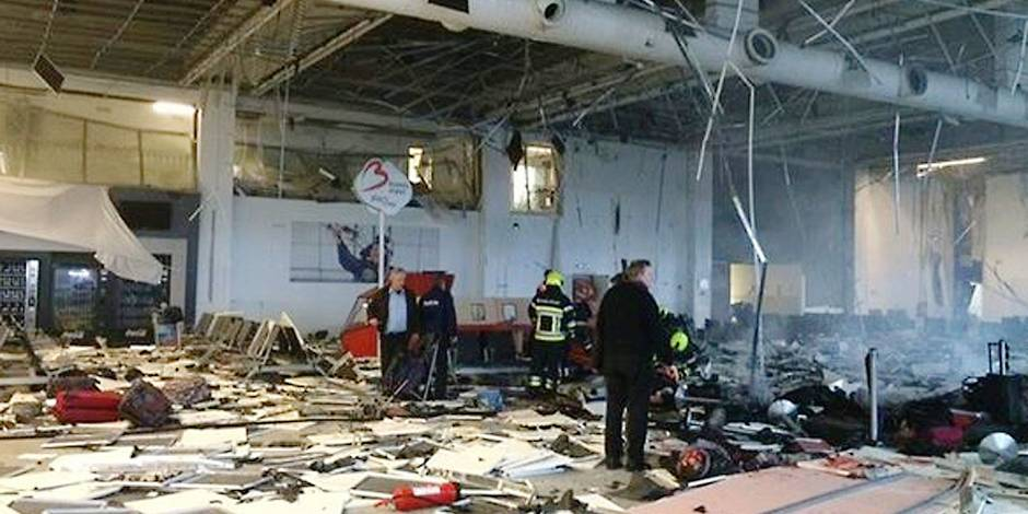 No credit - BI - Explosions à l'aéroport Zaventem de Bruxelles le 22 mars 2016 No credit - BI Pictures from the bombings at Zaventem airport in Brussels on 22/03/2016 Reporters / Bpresse
