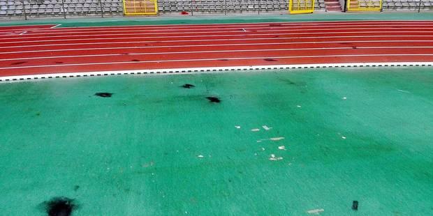 La piste du stade Roi Baudouin inutilisable à cause des supporters du Standard ! - La DH