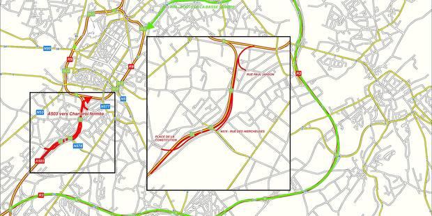 De nouveaux travaux sur le R9 de Charleroi