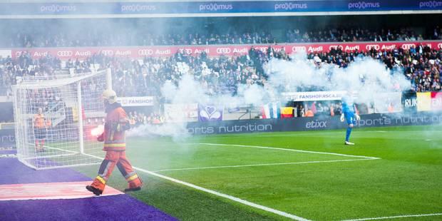 Des supporters d'Anderlecht provoquent l'arrêt de la rencontre... après deux minutes de jeu (PHOTOS) - La DH