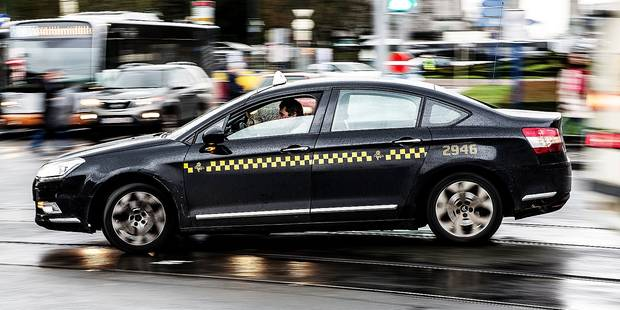 20170210 Brussels Belgium Ilration Picture Shows A Taxi Cab On Monday 10 February
