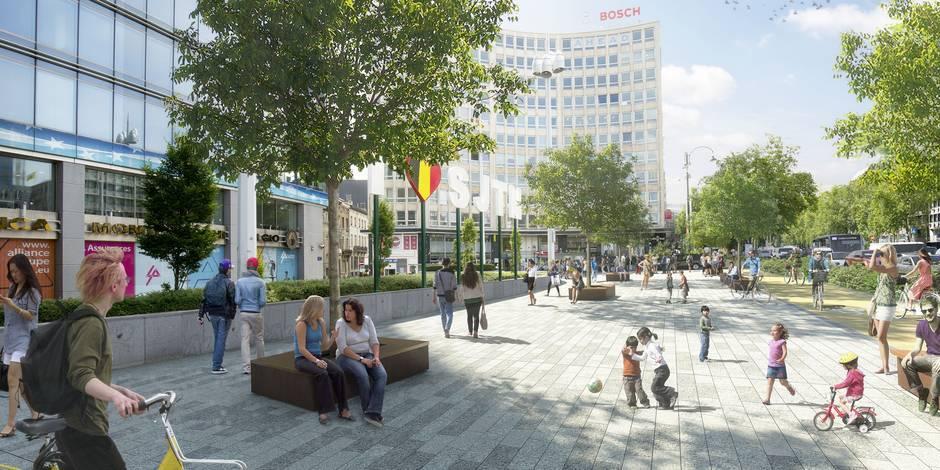 La place Madou deviendra une esplanade en 2018
