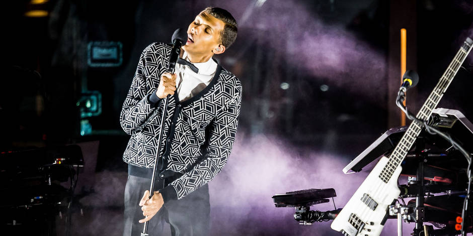Stromae performs at The Boulevard Pool at the Cosmo in Sin City