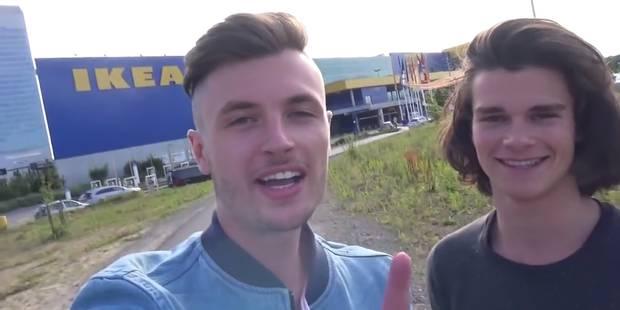 Ces deux Belges ont passé la nuit dans un magasin IKEA - La DH