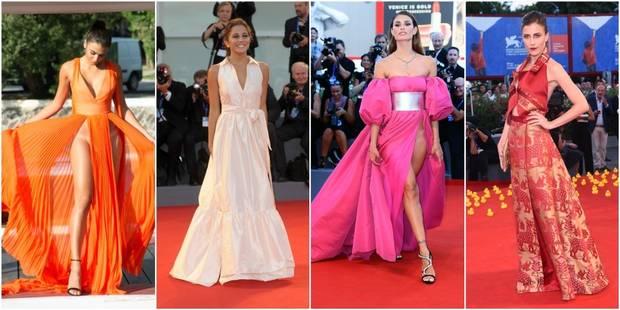 Mostra de Venise: un duel de robes (trop) échancrées parmi les tenues chic et glamour - La DH